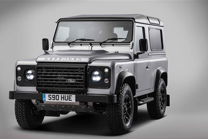 Land Rover Defender In Grey And Black