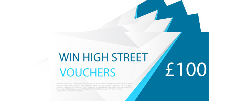 Win £100 high street vouchers