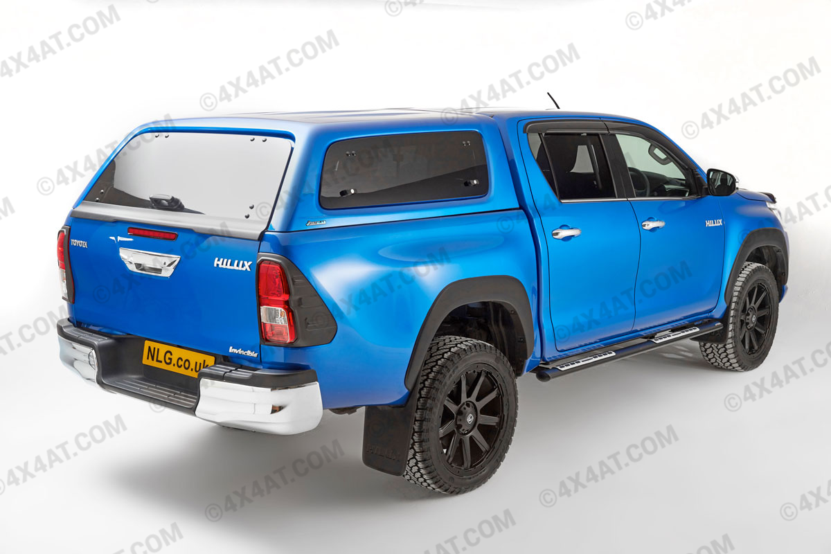 Toyota Hilux double cab fitted with trucktop canopy