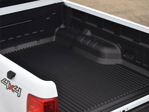 Under-Rail Load Bed Liner On A Pickup Truck