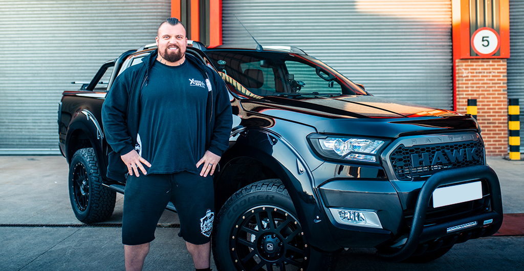 2017 Ford Ranger >> World's Strongest Man 2017 - Eddie 'The Beast' Hall Stops ...