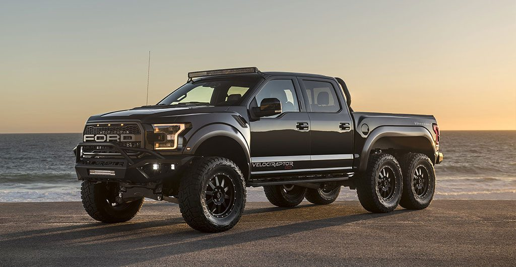 Side view of the Velociraptor 6x6 truck