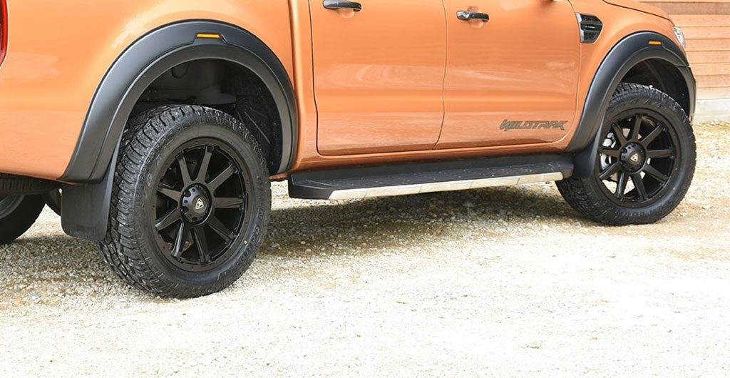 Best 4x4 Accessories - Ford Ranger Wildtrak fitted with black sports xv-r wheel arches