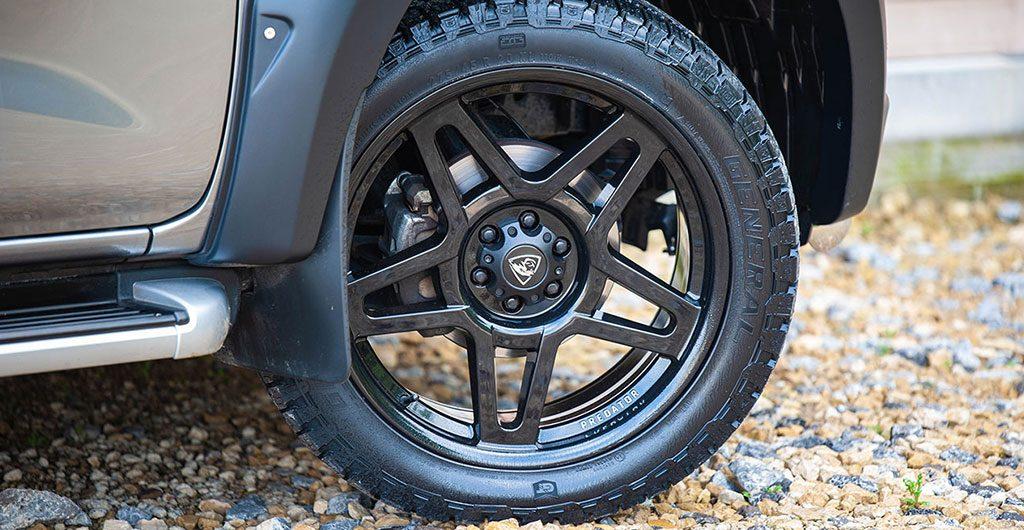 Best 4x4 Accessories - Black Predator fox alloy wheels
