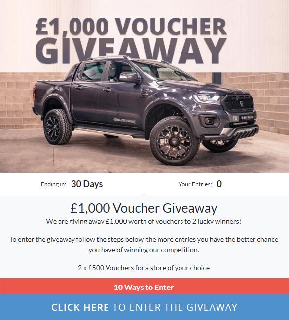 £1,000 Voucher Giveaway!