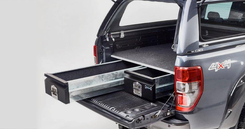 Bespoke drawer systems for pickup trucks