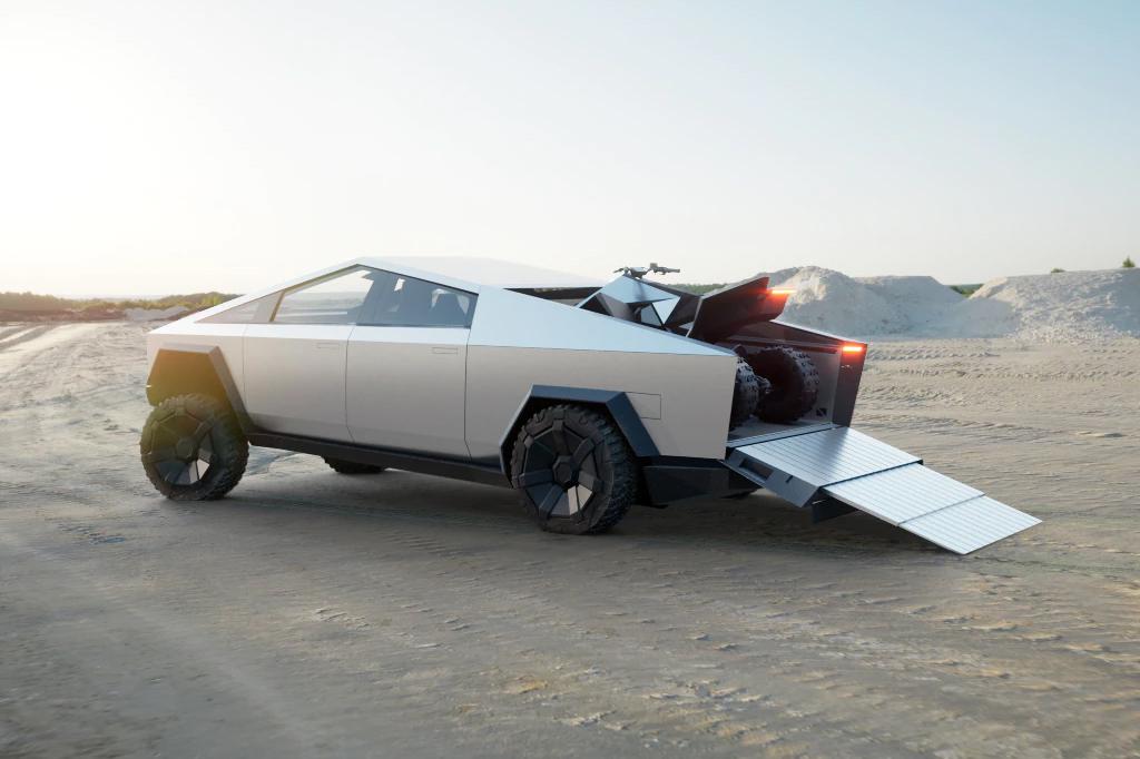 Electric Tesla Cybetruck Pickup Review UK