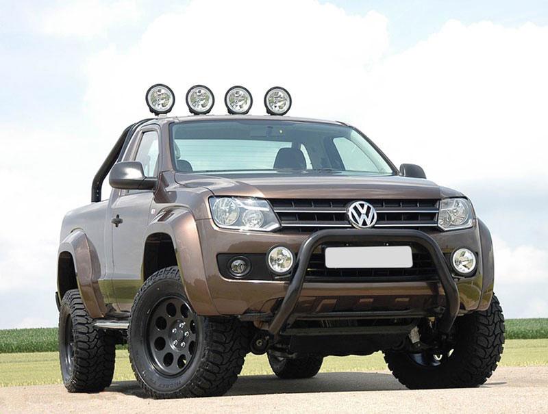 Volkswagen Amarok Black Powder Coated Stainless Steel A-Bar EU