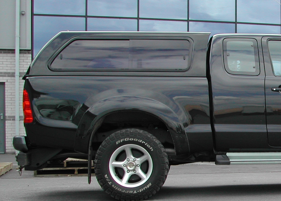 toyota hilux aeroklas hard top with side windows - 4x4 accessories