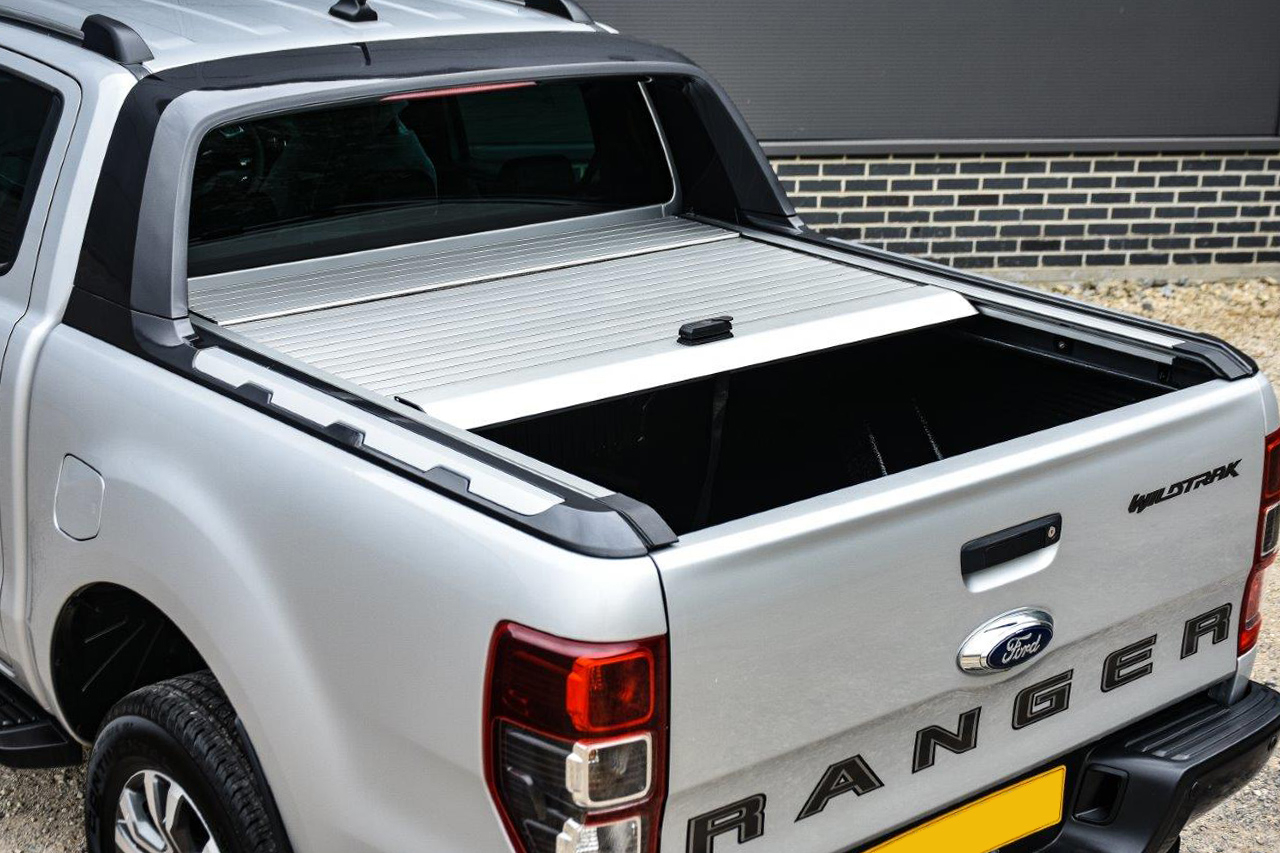 Ford Ranger 2012 2019 Aeroklas Retractable Tonneau Cover Silver 4x4at