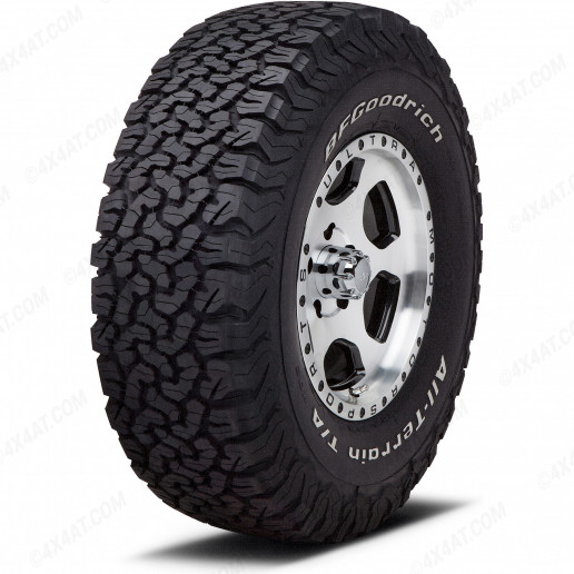 BF Goodrich KO2 All Terrain tyre with outlined white lettering
