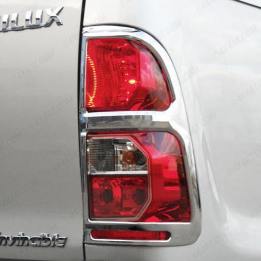 Toyota Hilux Mk6 2005-2012 Chrome Tail Light Surrounds / Rear Light Covers
