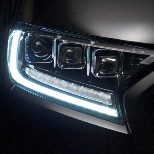 Ford Ranger Predator Tri-Projector LED Headlights with sweeping white – blue – white DRL function