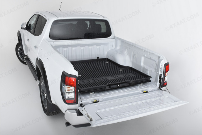 Sliding steel pickup bed tray suitable for double cab 4x4 pickup trucks