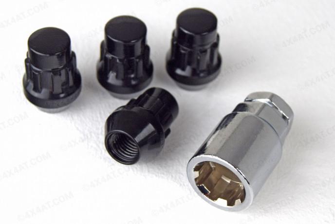12mm x 1.5mm Black Locking Wheel Nuts