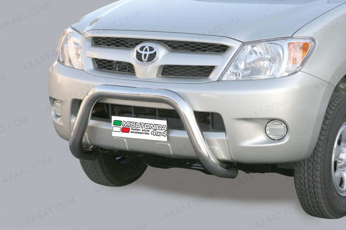 Toyota Hilux 6 A-Frame Bull Bar Stainless Steel 3Inch Mach Eu Approved