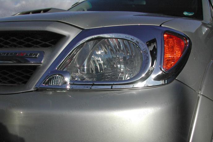 Chrome Head Lamp Covers Toyota Hilux Mk6
