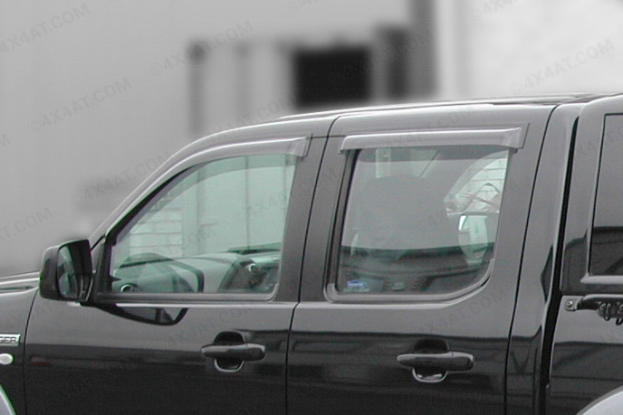 Dark smoke, tinted Ford Ranger 2006-2012 wind deflectors