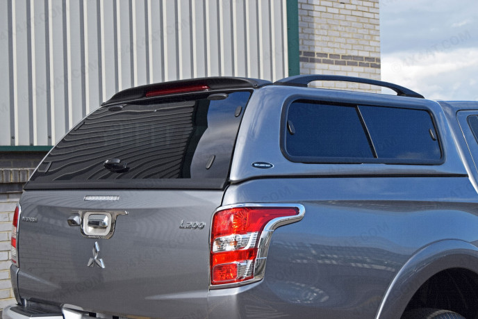 Mitsubishi L200 Double Cab 2015 Carryboy Windowed Leisure Hard Top Canopy Rear Corner View