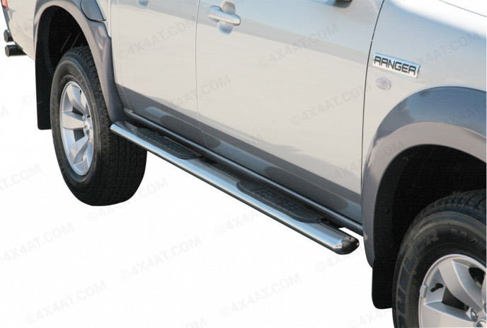 Ford Ranger 3/4 Stainless Steel Side Bar Set Oval Mach Gpo204