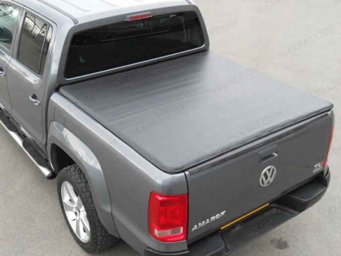 Volkswagen Amarok Double Cab 2011 Onwards Black Tonneau Cover Rail with Hidden Press Snap