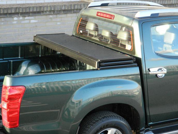 Toyota Hilux 2005 On Without Ladder Rack Heavy Duty Alloy Tri-Folding Pick-up Tonneau