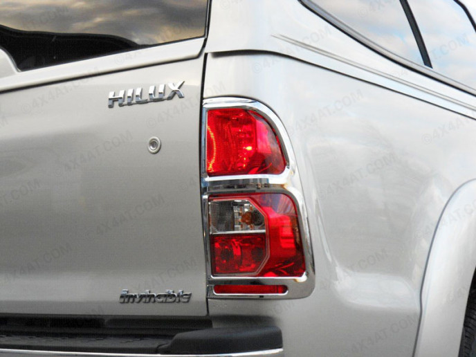 Toyota Hilux Mk7 2012 On Chrome Tail Lamp Surrounds