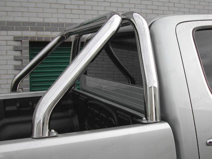 Toyota Hilux 2005 On Single Stainless Steel Hoop Sports Bar