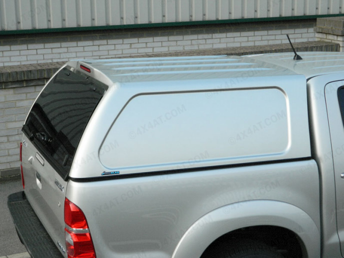 Toyota Hilux Mk6 Double Cab Aeroklas Commercial Hard Top Blank Sides Painted