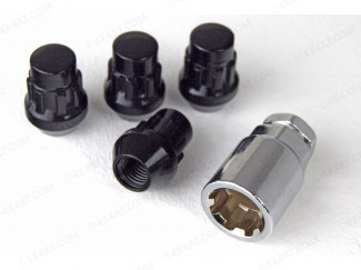 12mm x 1.5mm Black Locking Wheel Nuts