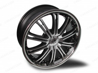 20 X 8.5 Inch Wolf Alloy Wheel Machine Face With Stainless Rim