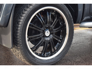22 Inch Wolf VE Black Painted 4x4 Alloy Wheel Ford Ranger 2012 On T6