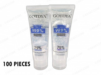 HAND GEL 80ML 75% ALCOHOL CONTENT UK SUPPLIER 4X4AT (100 PACK)