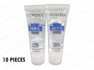 HAND GEL 80ML 75% ALCOHOL CONTENT UK SUPPLIER 4X4AT (10 PACK)
