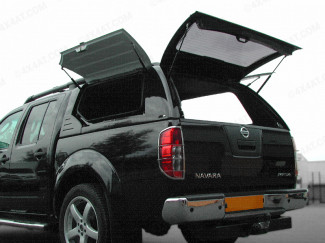 Nissan Navara D40 Alpha Commercial Gullwing Hard Top In GNO Black Finish