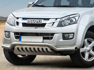 Isuzu Dmax 2012 on fitted with a stainless steel spoiler bar with axle plate