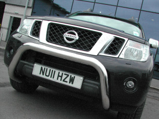 2010 On Nissan Navara D40 A-Bar Stainless 3 Inch Low (Not V6)