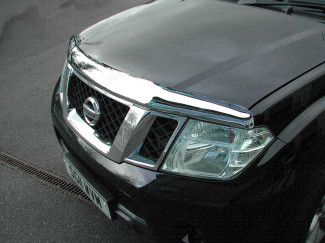 Nissan Navara D40 2010 - 2015 Bonnet Guard (Chrome Finish)