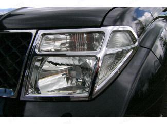 Nissan Navara D40 2005-2010 Chrome Headlight Covers