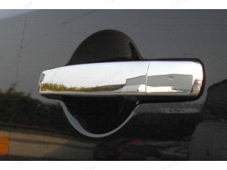 Nissan Navara D40 Double Cab Door Handle Cover Set Polished Stainless Steel