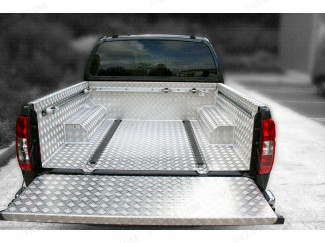 Nissan Navara D40 Double Cab Samson Chequer Pickup Liner With 'C' Channels