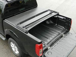 NISSAN NAVARA D40 2005 ON DOUBLE CAB WITH C-CHANNELS SOFT TRI-FOLDING LOAD BED COVER