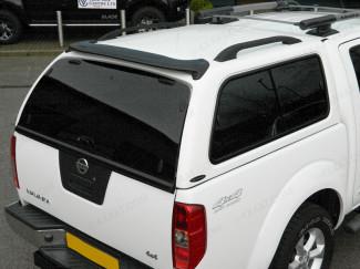 Carryboy Leisure Hardtop with windowed sides on Navara D40