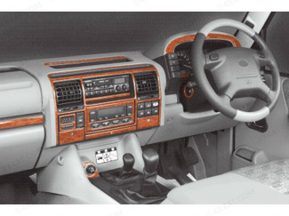Landrover Discovery 3/4 99-05 Wood Trim Kit For Interior Dash Board