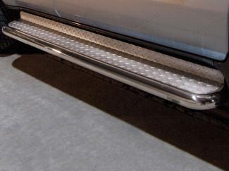 70mm Steel Side Bars For Toyota Land Cruiser 120 2003-2009