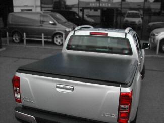 Soft hidden snap tonneau cover fitted to an Isuzu Dmax 2012