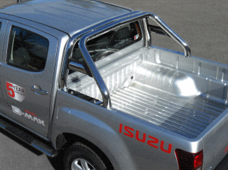 Single hoop sports bar fitted to an Isuzu Dmax double cab 2012 onwards