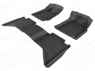 Tray style tailored floor mats for Isuzu Dmax 2012