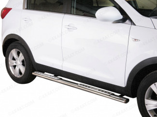 Kia Sportage 2010 To 2016 Side Bars Stainless Steel