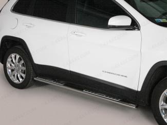 Jeep Cherokee 14 Onwards Stainless Steel Side Bars Mach